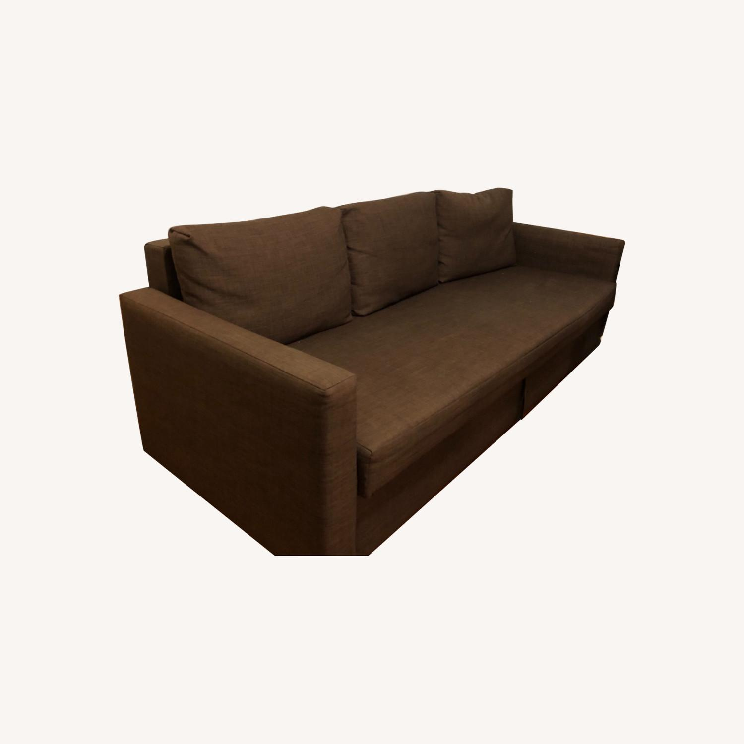 IKEA FRIHETEN Sleeper Sofa in brown - image-0