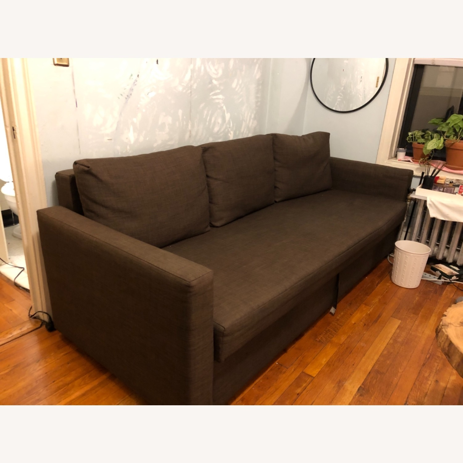 IKEA FRIHETEN Sleeper Sofa in brown - image-2