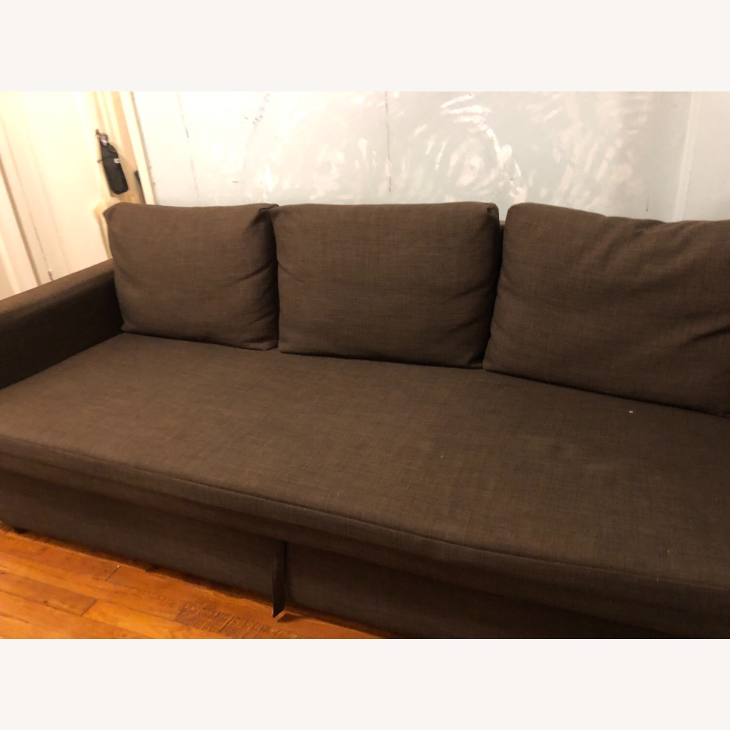 IKEA FRIHETEN Sleeper Sofa in brown - image-3