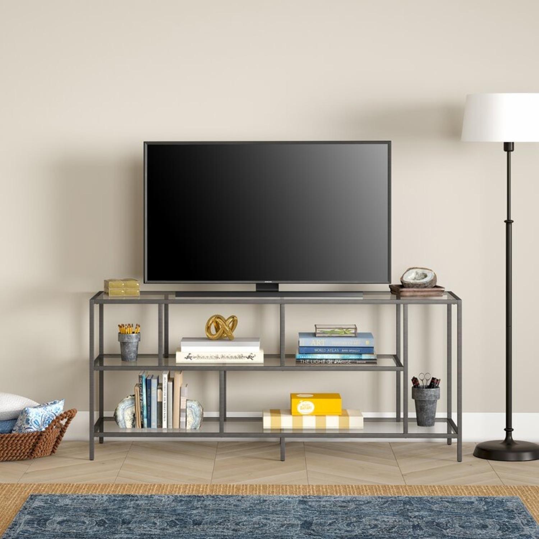 AllModern Brandon TV Stand in Satin Nickel - image-1