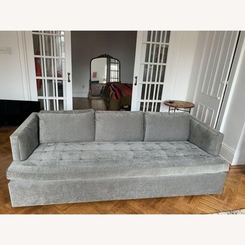 Used ABC Home and Carpet Light Grey Velvet Sleeper Sofa for sale on AptDeco
