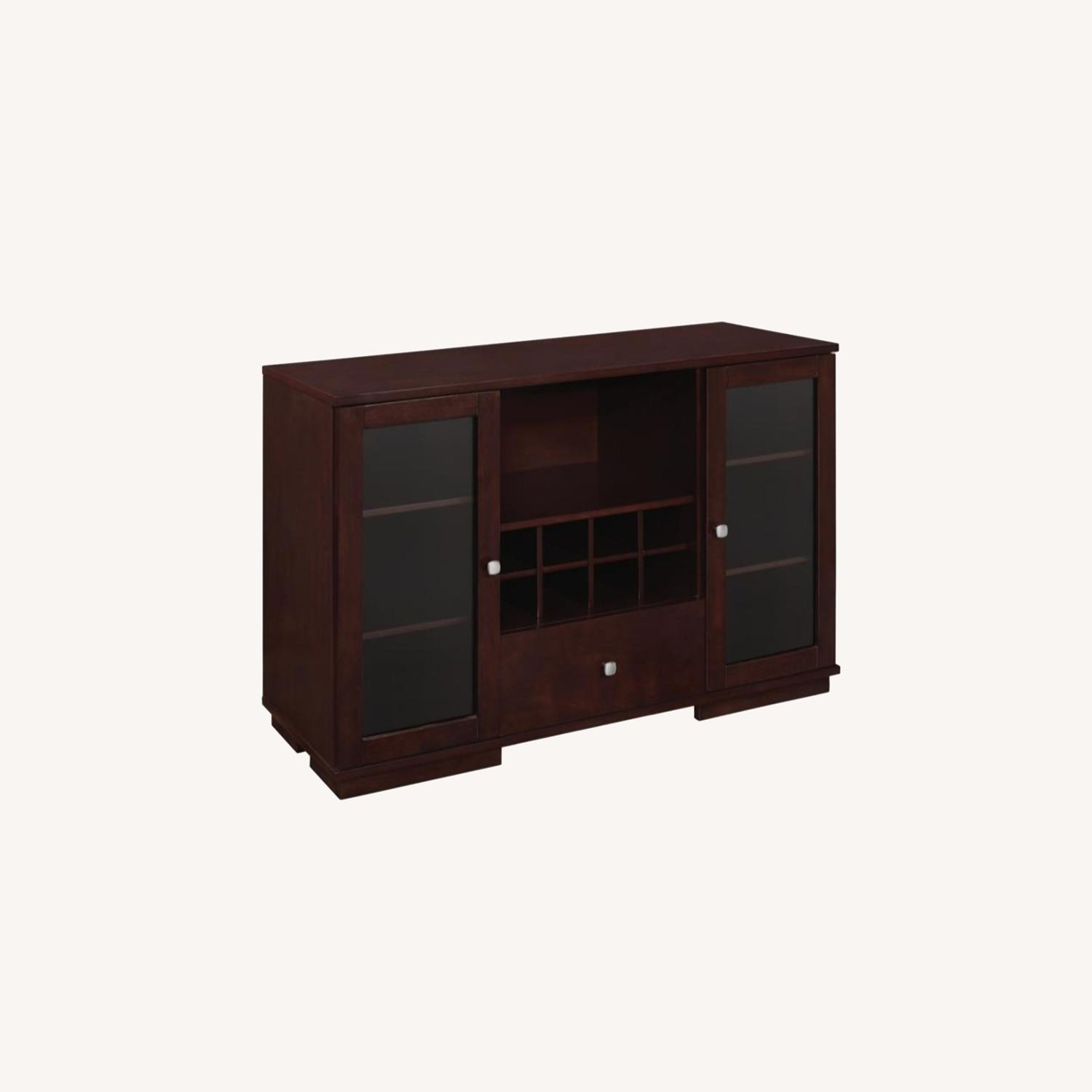 Server In Cappuccino Finish W/ Built-In Wine Rack - image-3