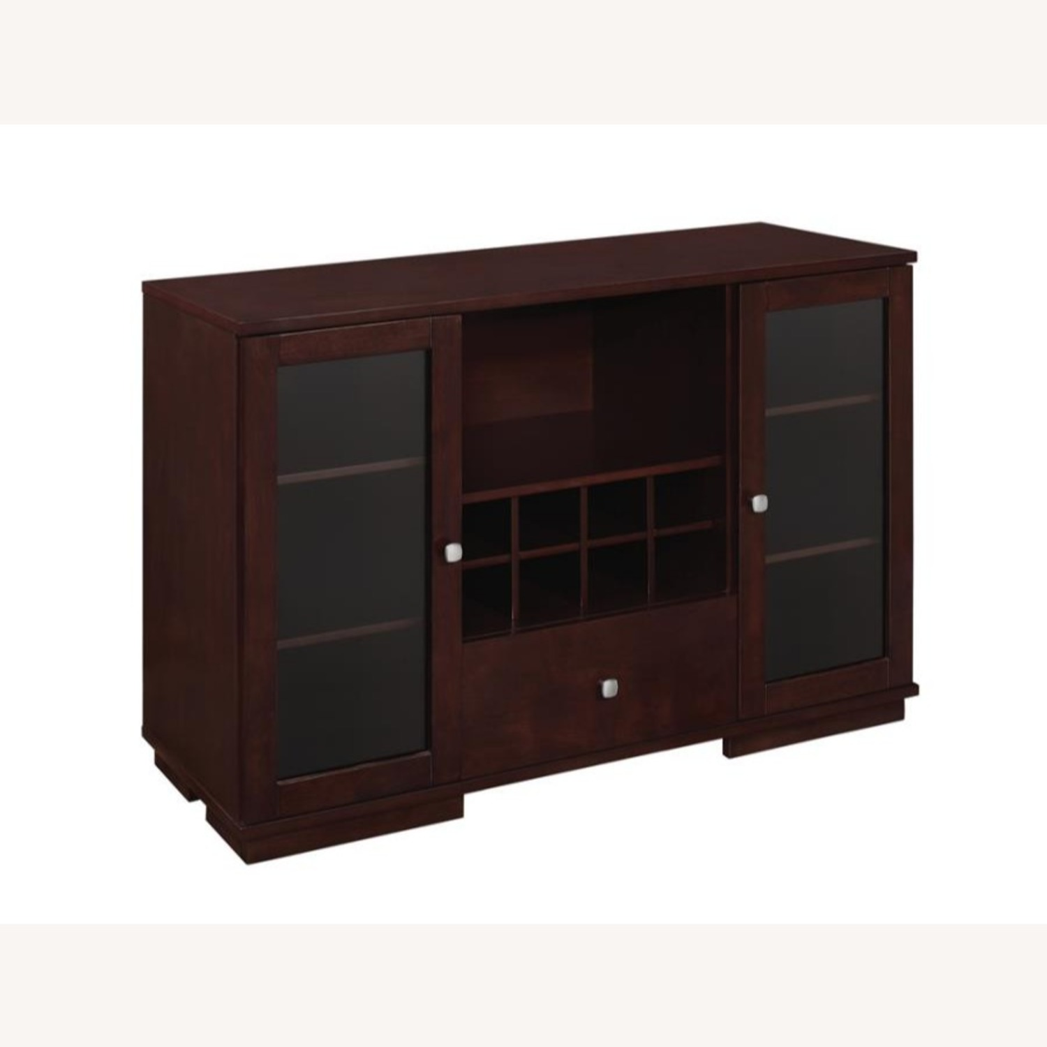 Server In Cappuccino Finish W/ Built-In Wine Rack - image-0
