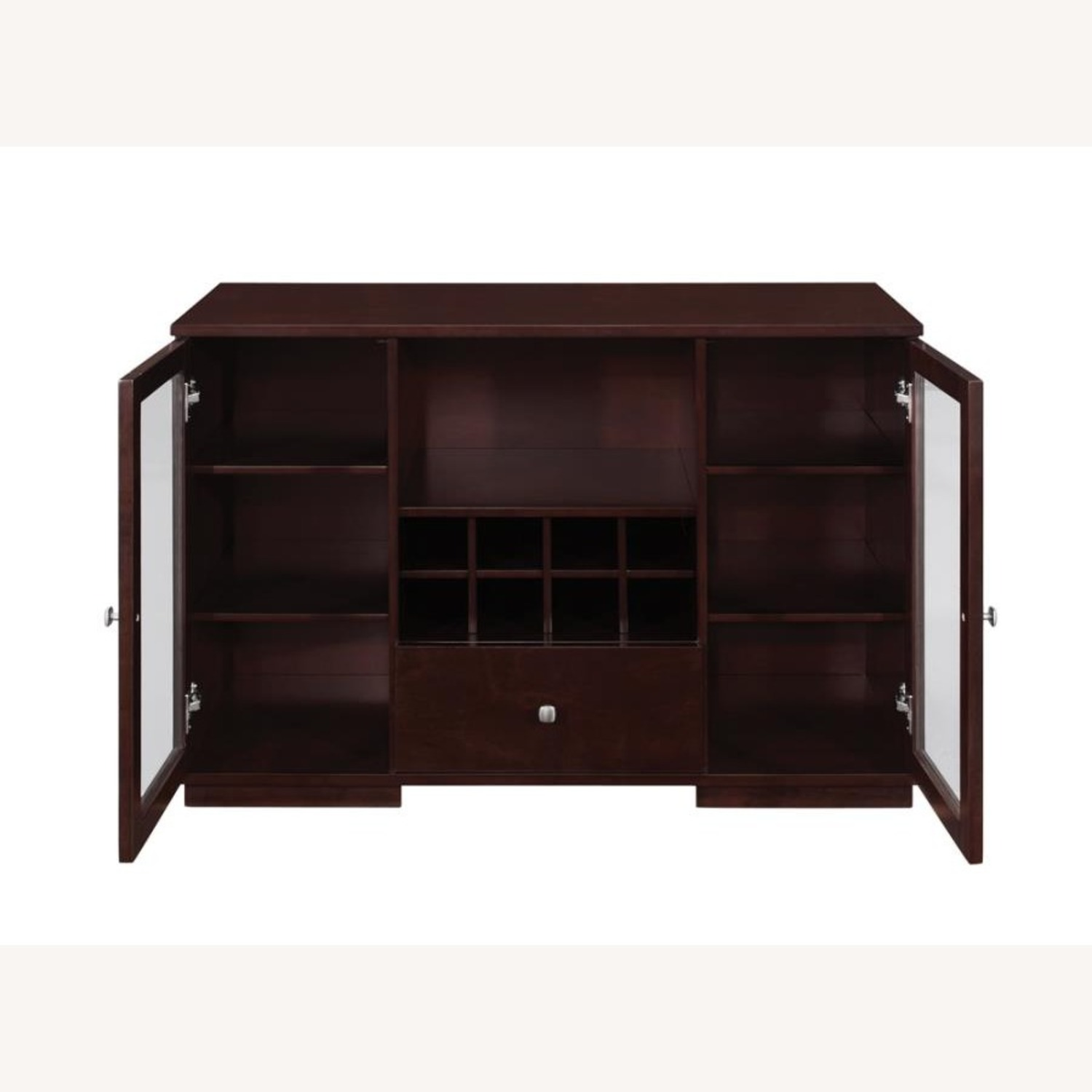 Server In Cappuccino Finish W/ Built-In Wine Rack - image-1