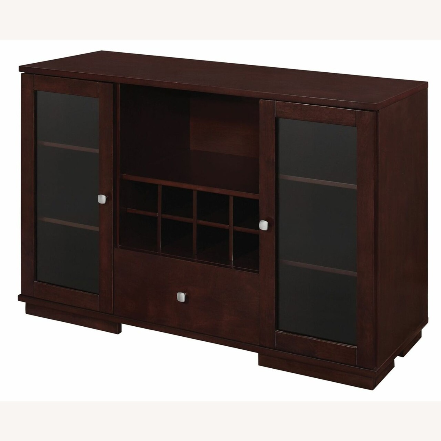 Server In Cappuccino Finish W/ Built-In Wine Rack - image-2