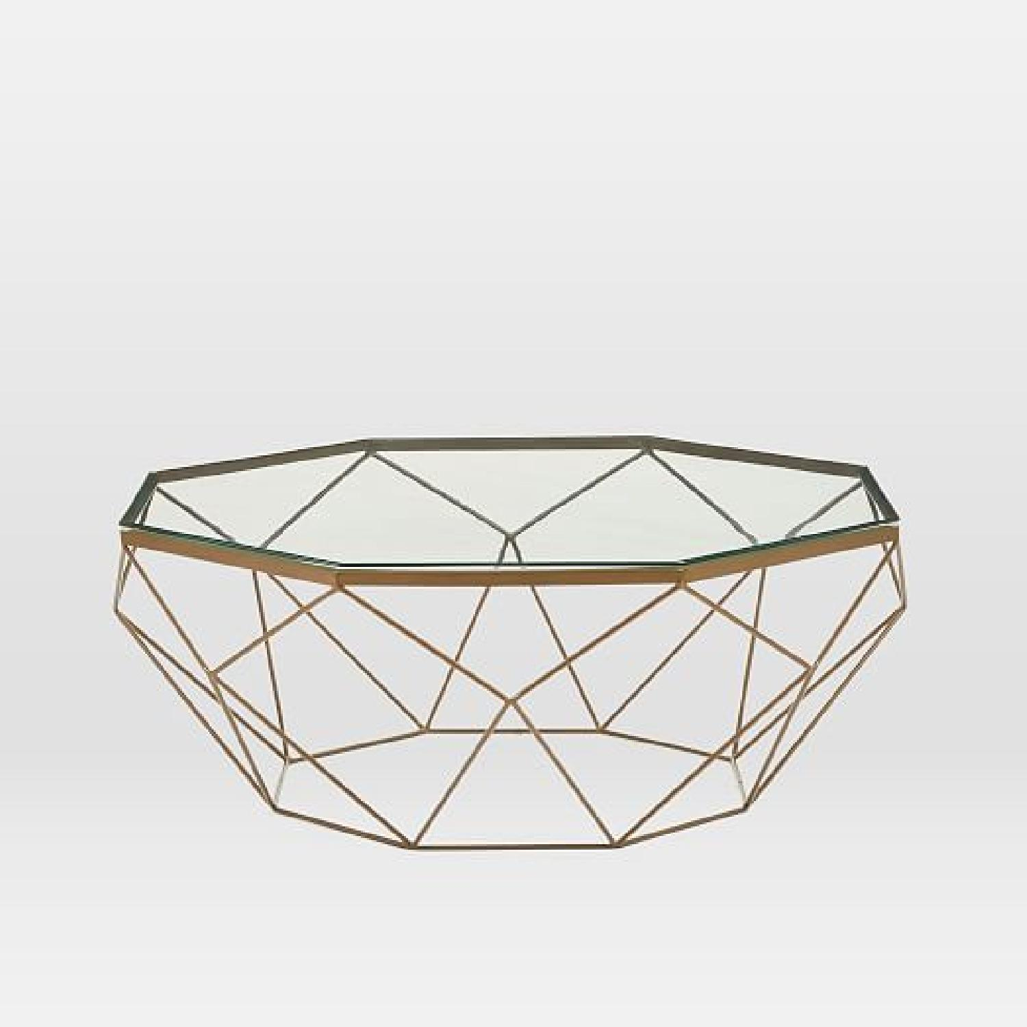 West Elm Geometric Glass Coffee Table - image-4