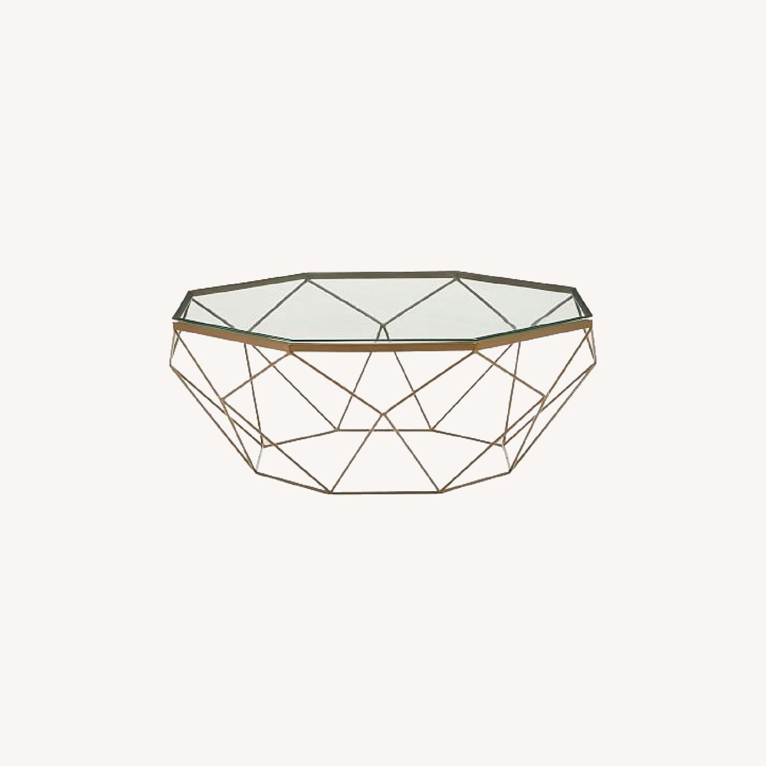 West Elm Geometric Glass Coffee Table - image-0