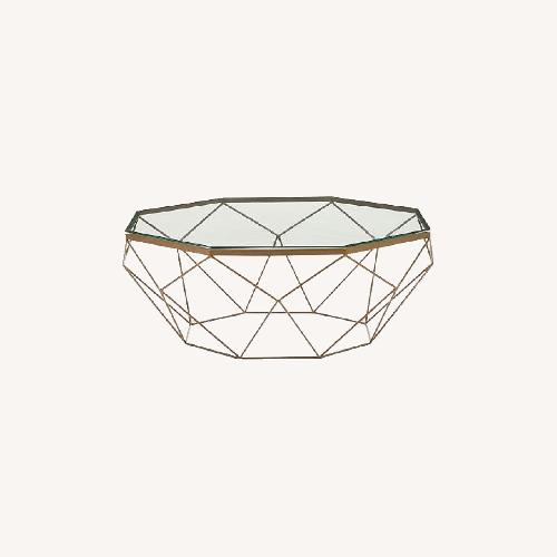 Used West Elm Geometric Glass Coffee Table for sale on AptDeco