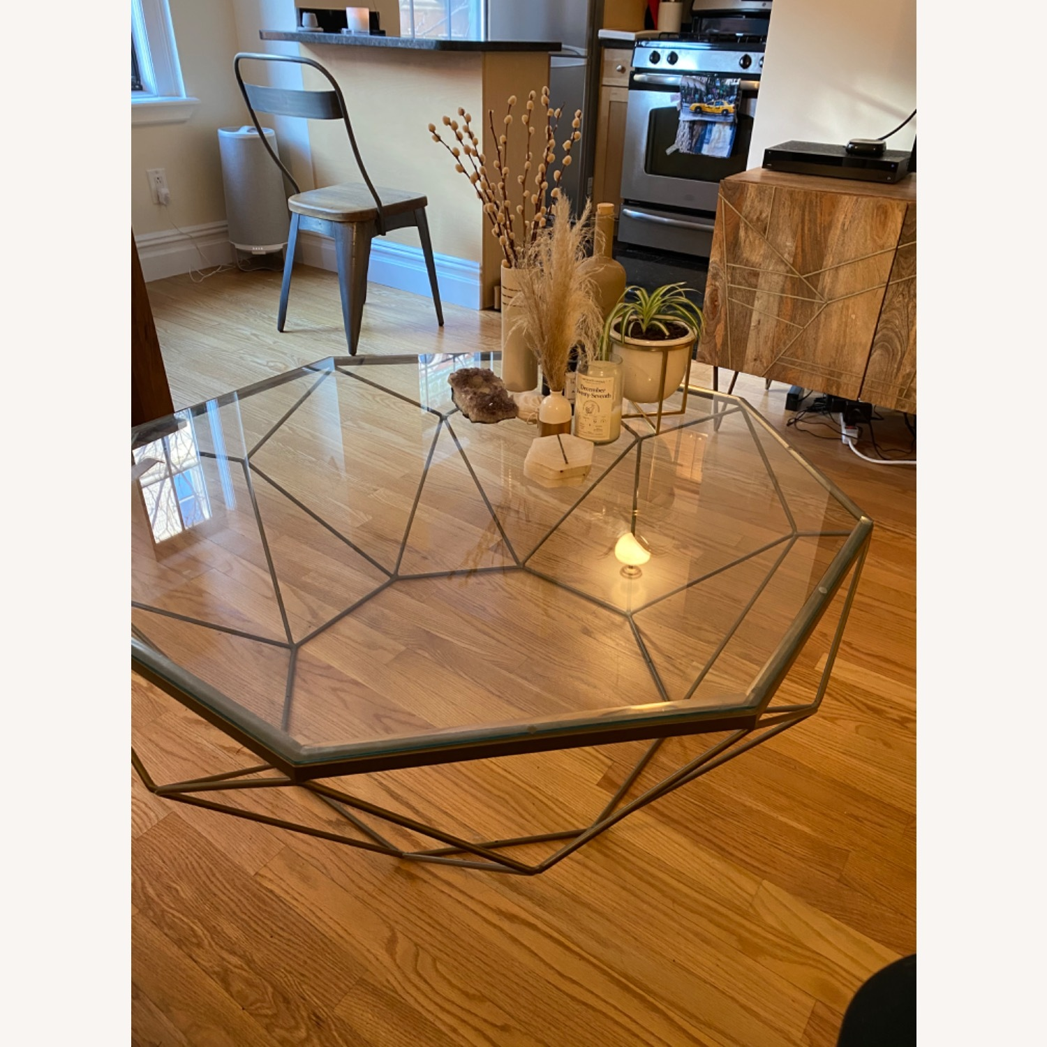 West Elm Geometric Glass Coffee Table - image-1