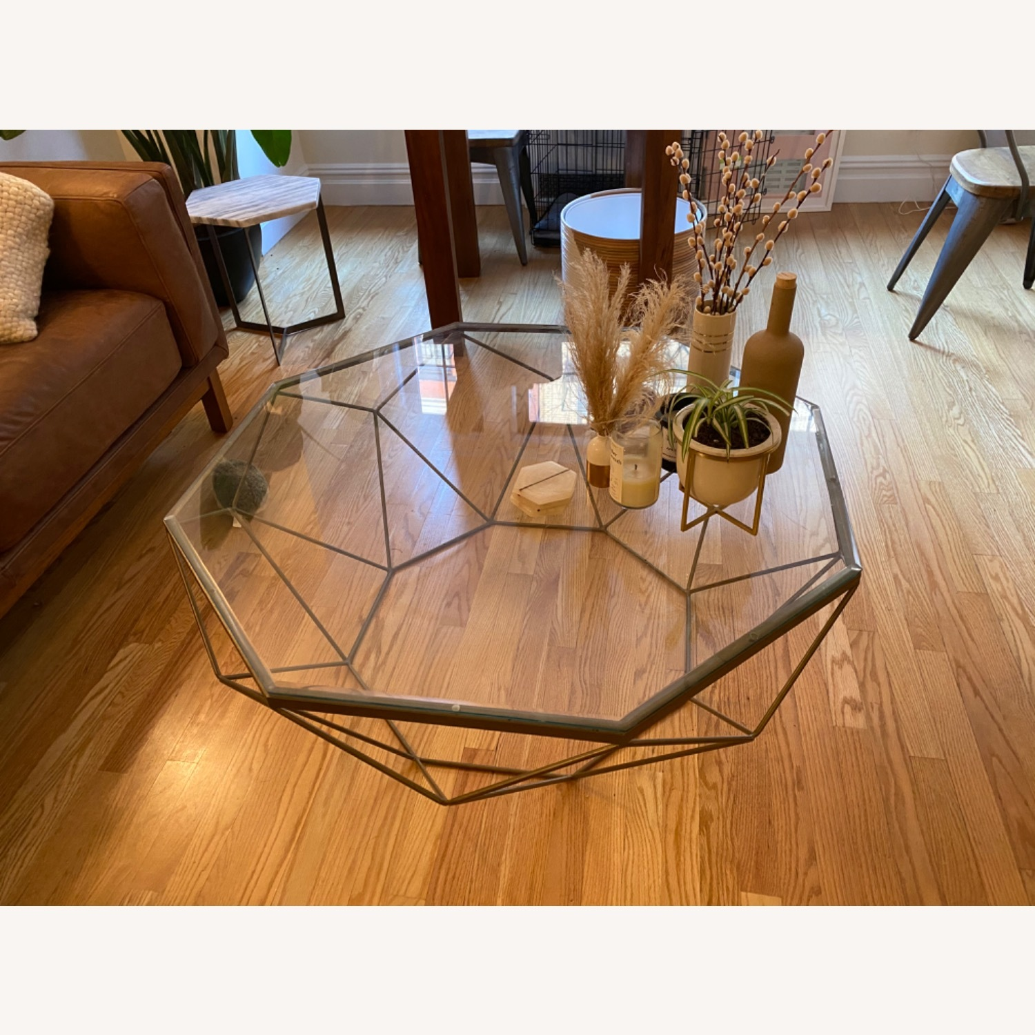 West Elm Geometric Glass Coffee Table - image-2