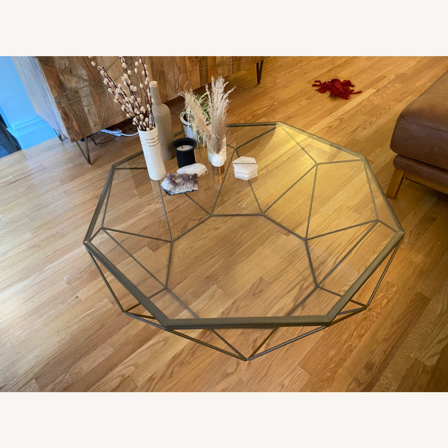 West Elm Geometric Glass Coffee Table - image-3