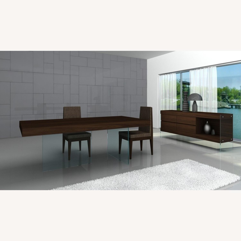 Modern Buffet In Dark Oak Finish W/ Open Shelf - image-2