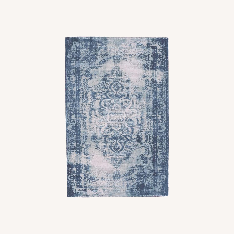 West Elm Distressed Arabesque Wool Rug - image-0