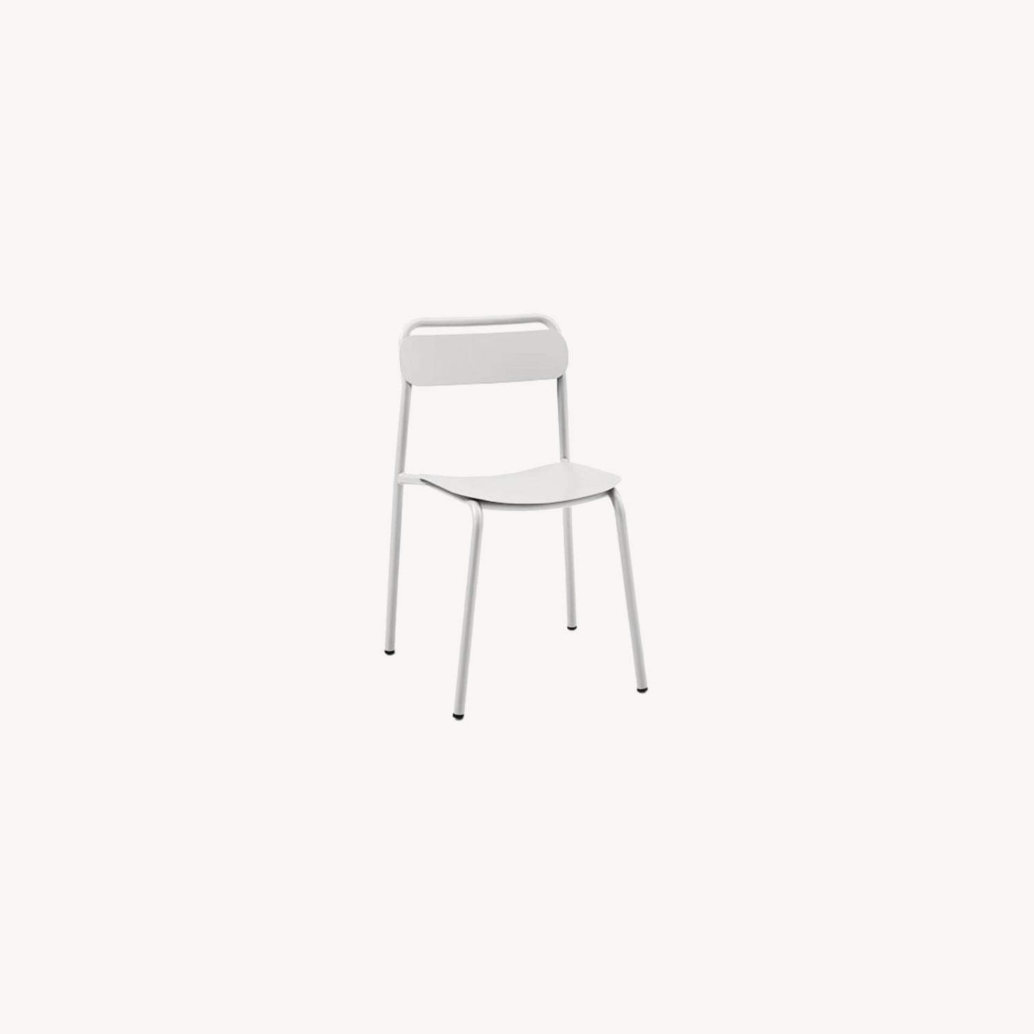 West Elm Outdoor Metal Stacking Chair,  Set of 2 - image-0