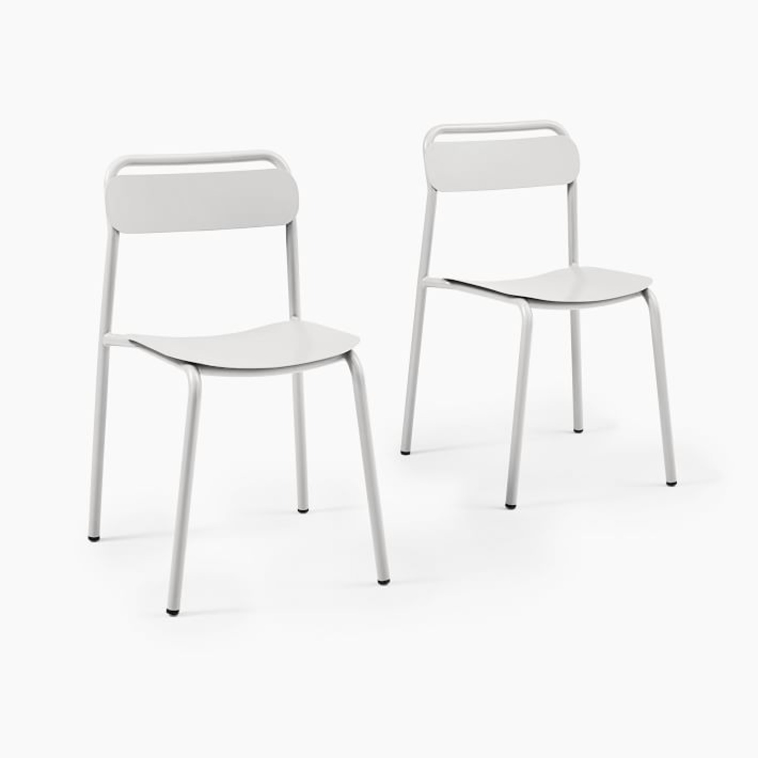 West Elm Outdoor Metal Stacking Chair,  Set of 2 - image-1