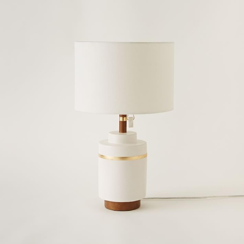 West Elm Crackle Glaze Ceramic Table Lamp - image-5