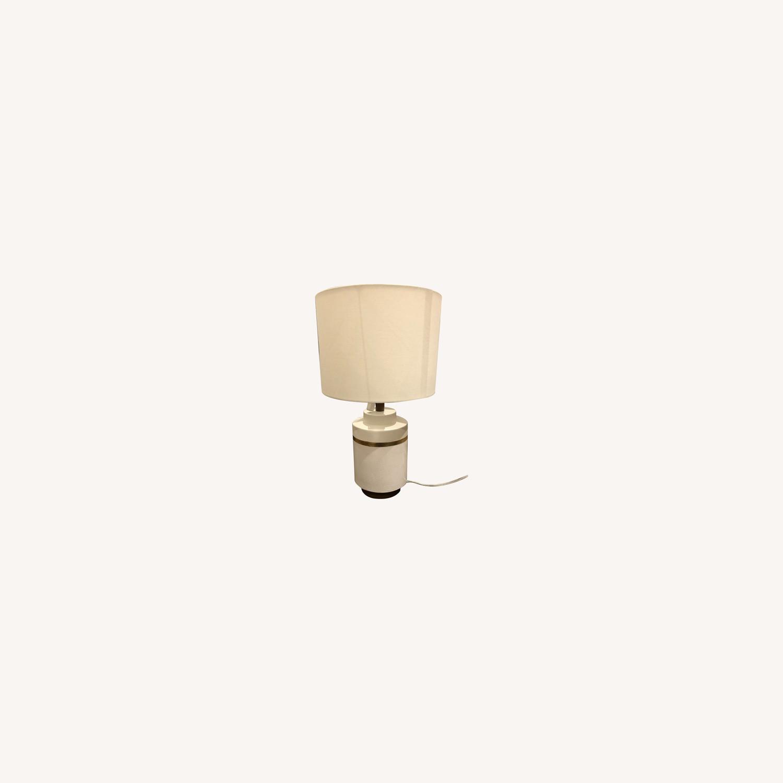 West Elm Crackle Glaze Ceramic Table Lamp - image-0