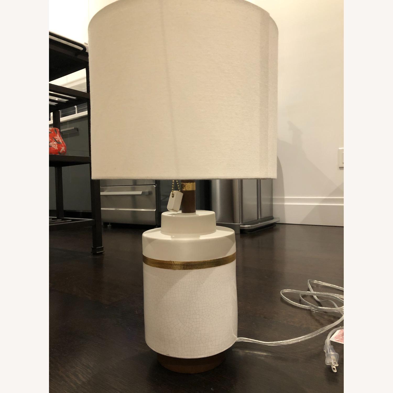 West Elm Crackle Glaze Ceramic Table Lamp - image-4