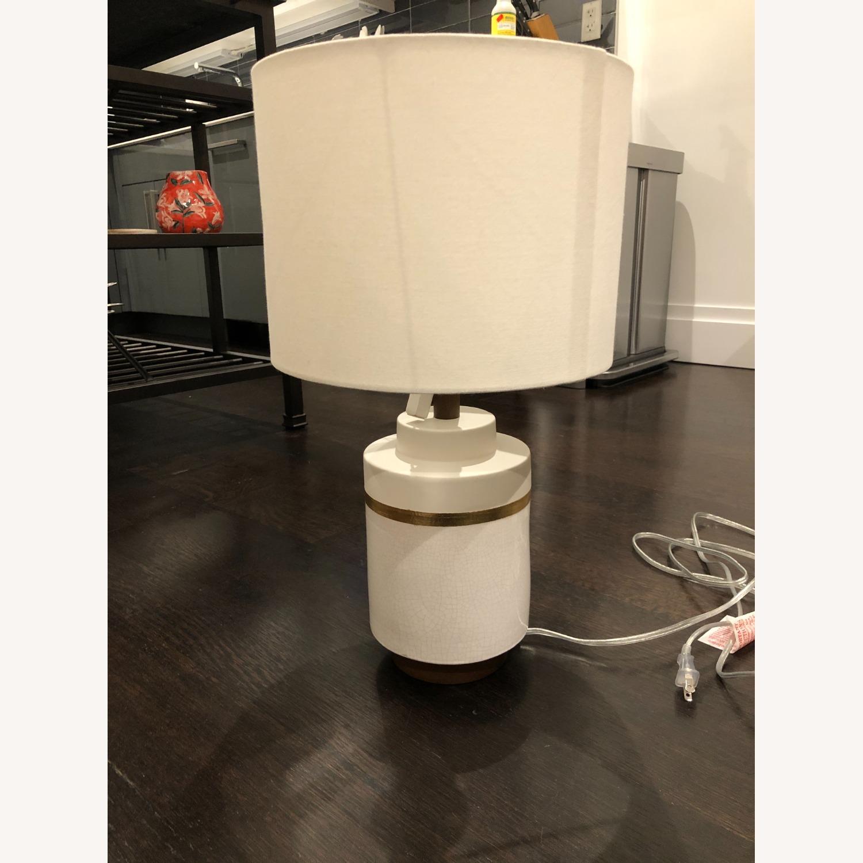 West Elm Crackle Glaze Ceramic Table Lamp - image-1