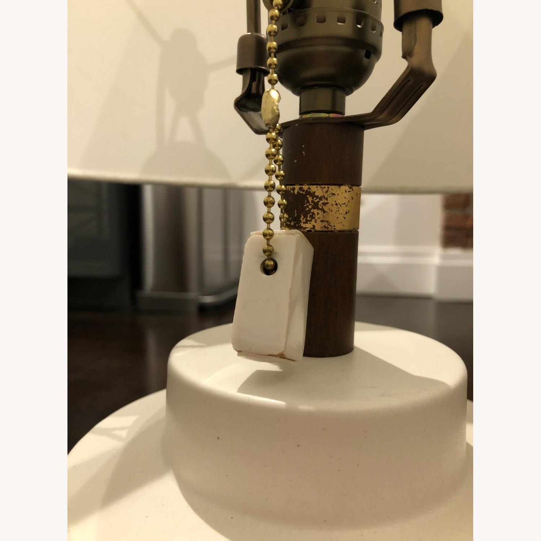 West Elm Crackle Glaze Ceramic Table Lamp - image-2