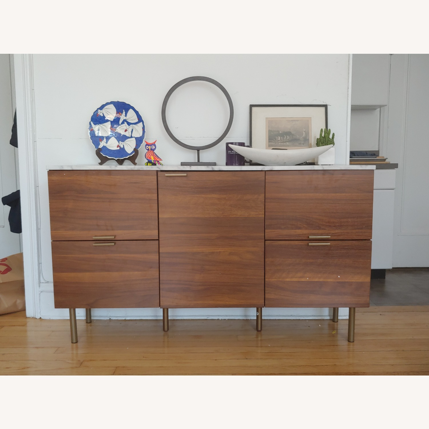 Wayfair Faux Marble Topped Sideboard - image-1