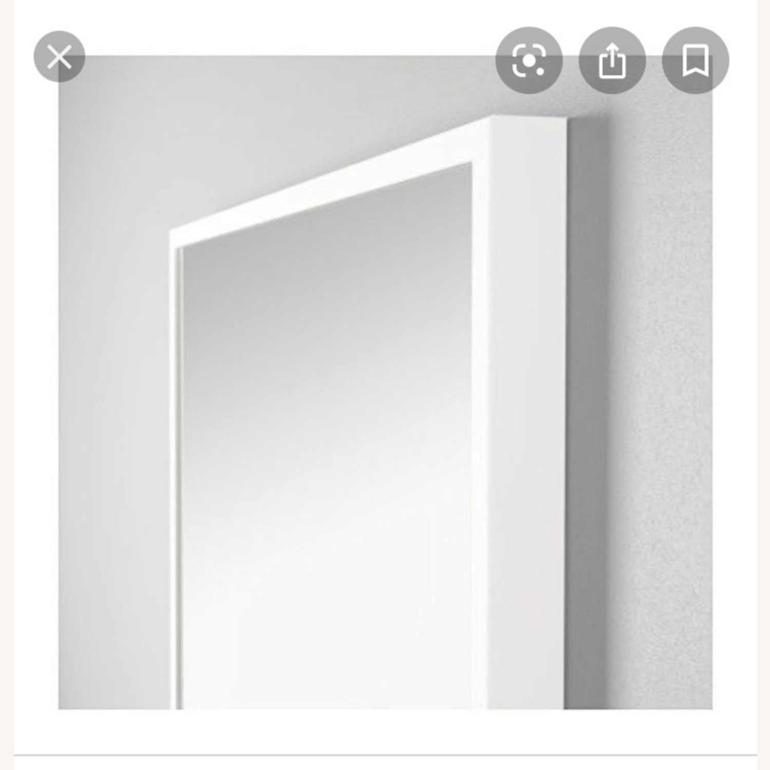 IKEA White STAVE Wall Mirror - image-2