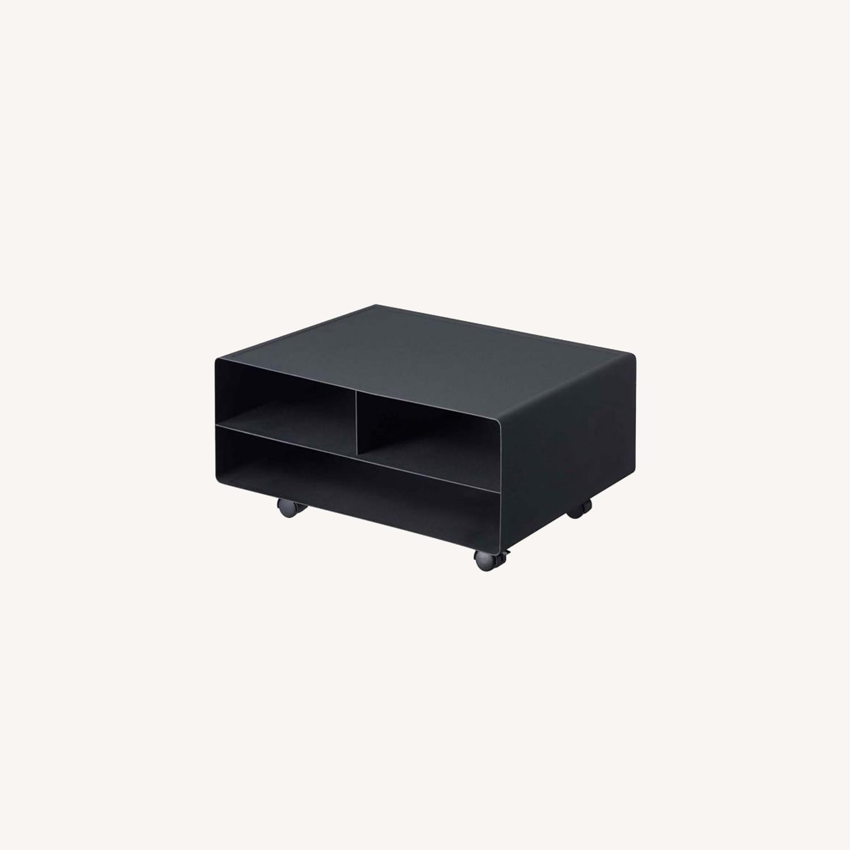 West Elm Tower Desktop Printer Stand, Black - image-0