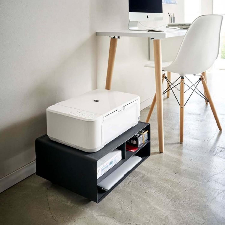 West Elm Tower Desktop Printer Stand, Black - image-3