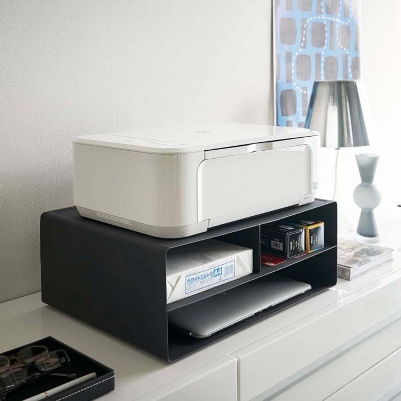 West Elm Tower Desktop Printer Stand, Black - image-2