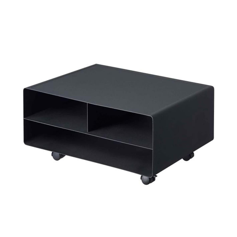 West Elm Tower Desktop Printer Stand, Black - image-1