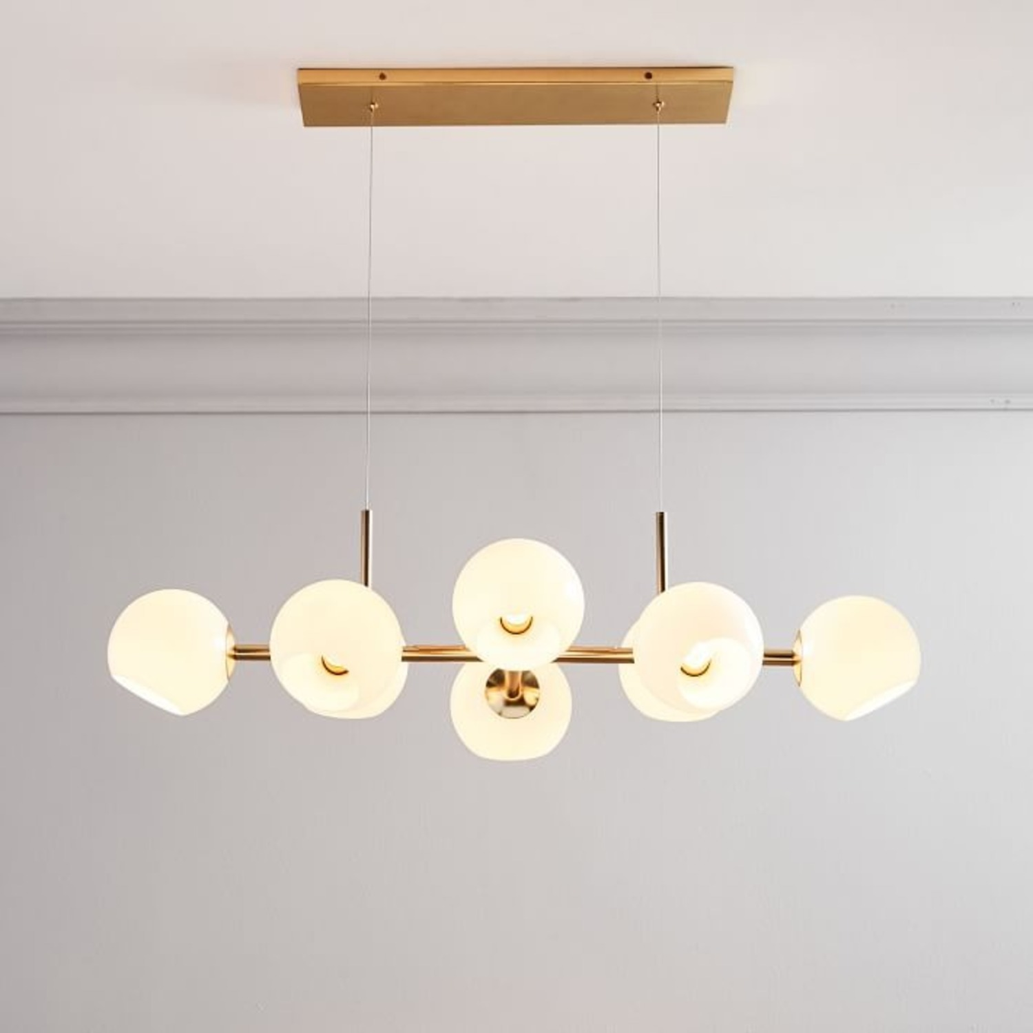 West Elm Staggered Glass Chandelier - image-3