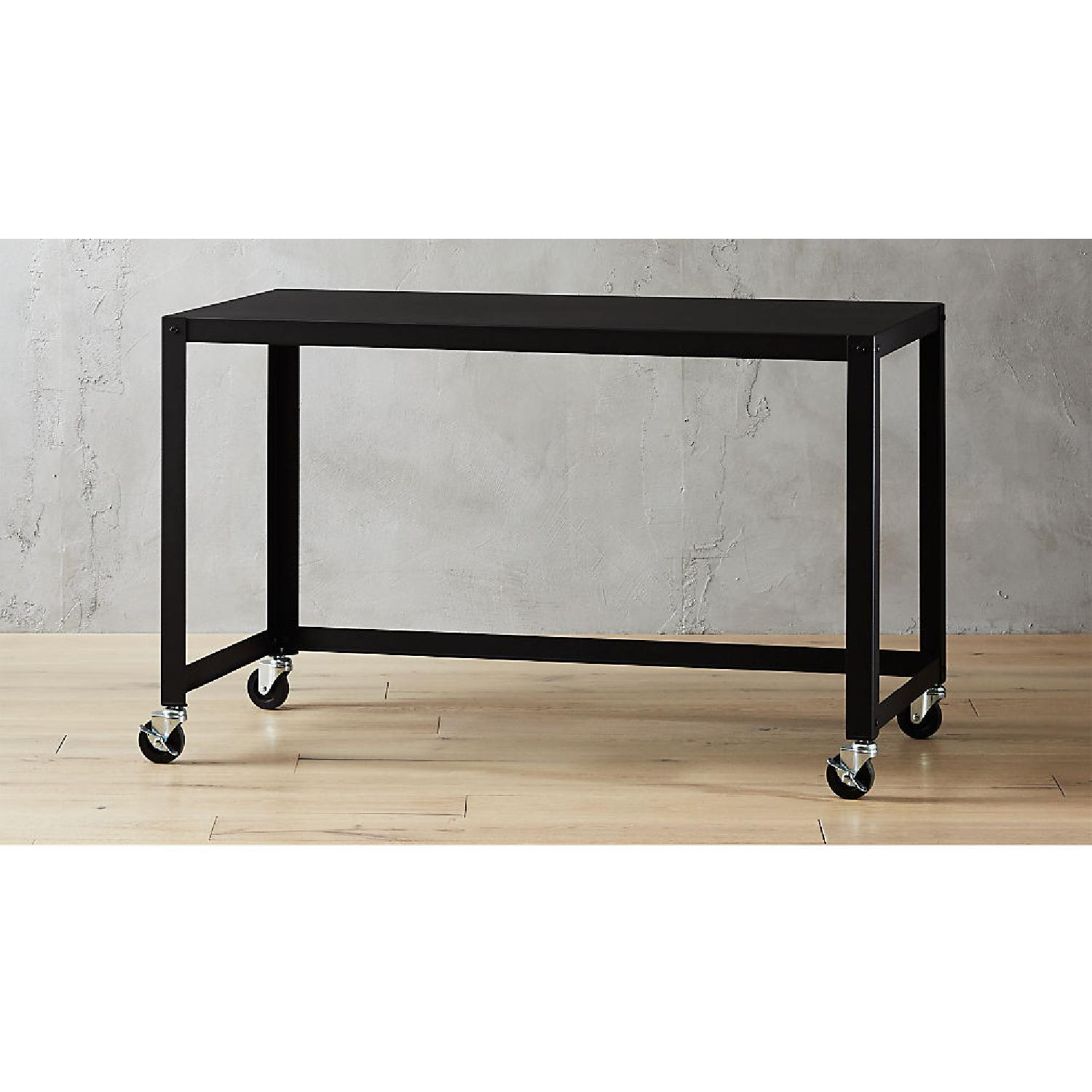 CB2 Go Cart Rolling Table Desk - image-6