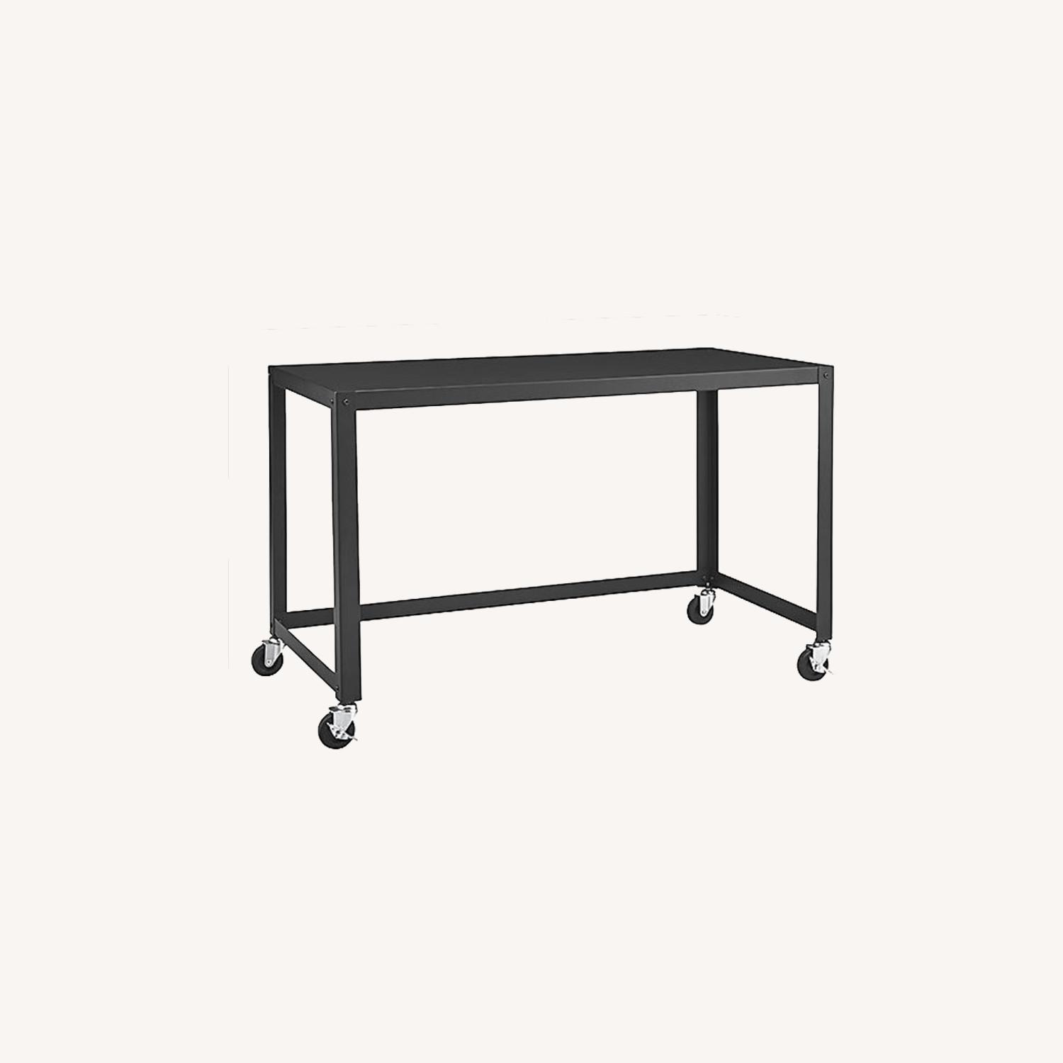 CB2 Go Cart Rolling Table Desk - image-0