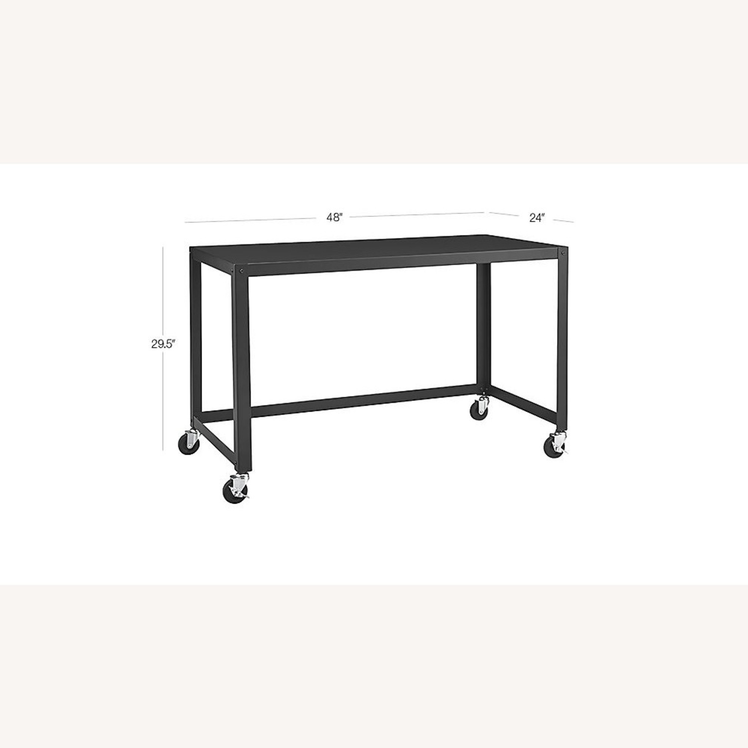 CB2 Go Cart Rolling Table Desk - image-5
