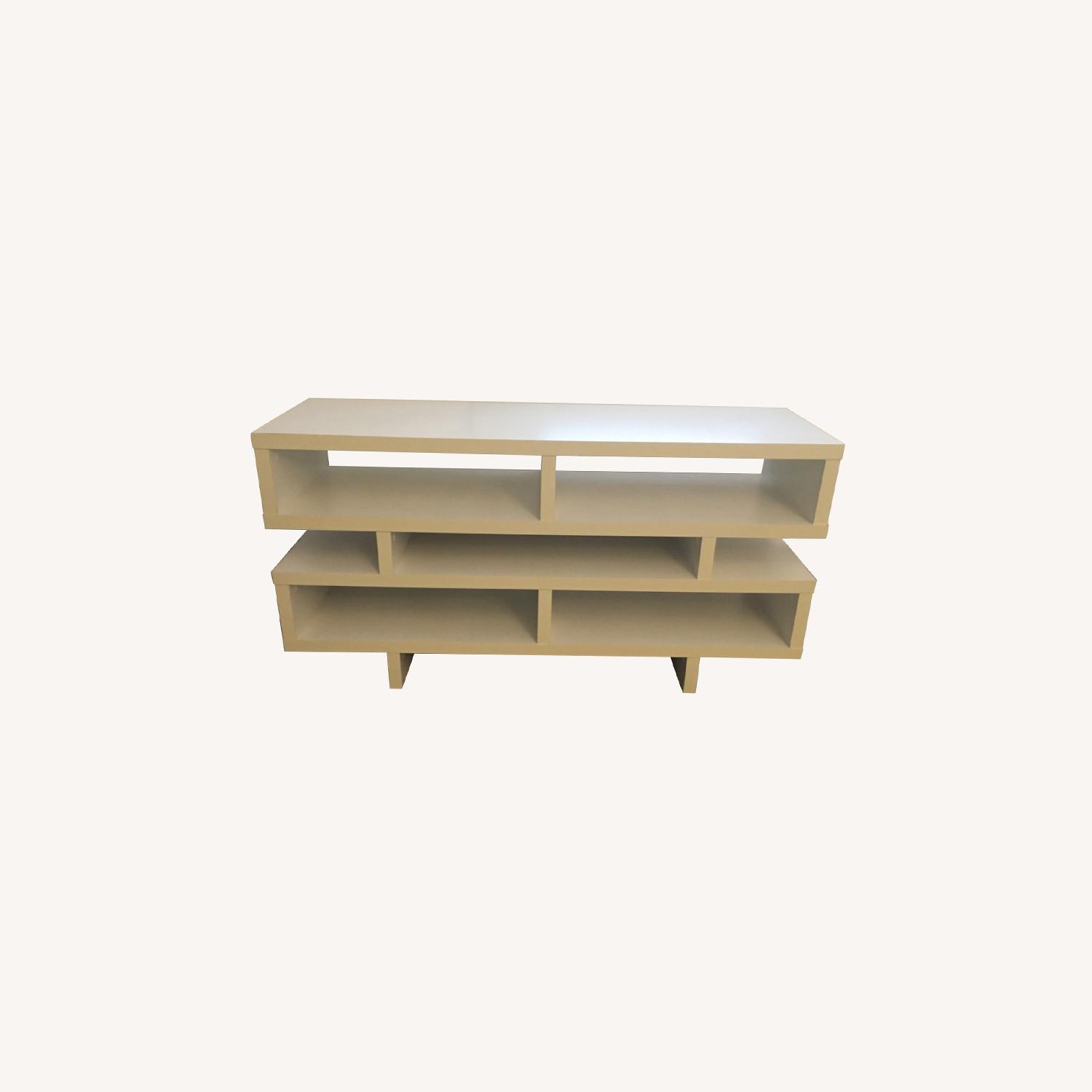 White TV Stand - image-0