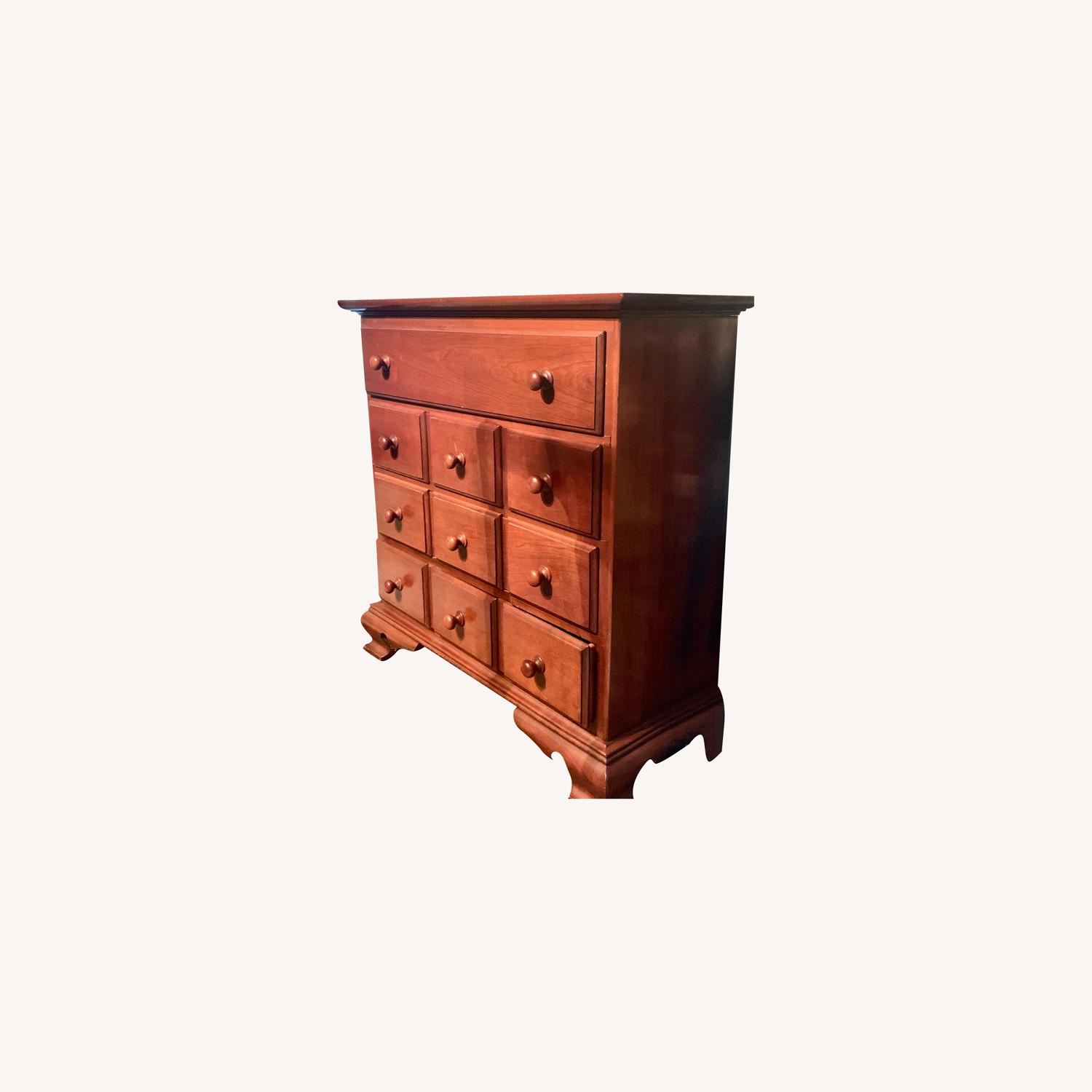 Antique Four-Drawer Wooden Chest - image-0