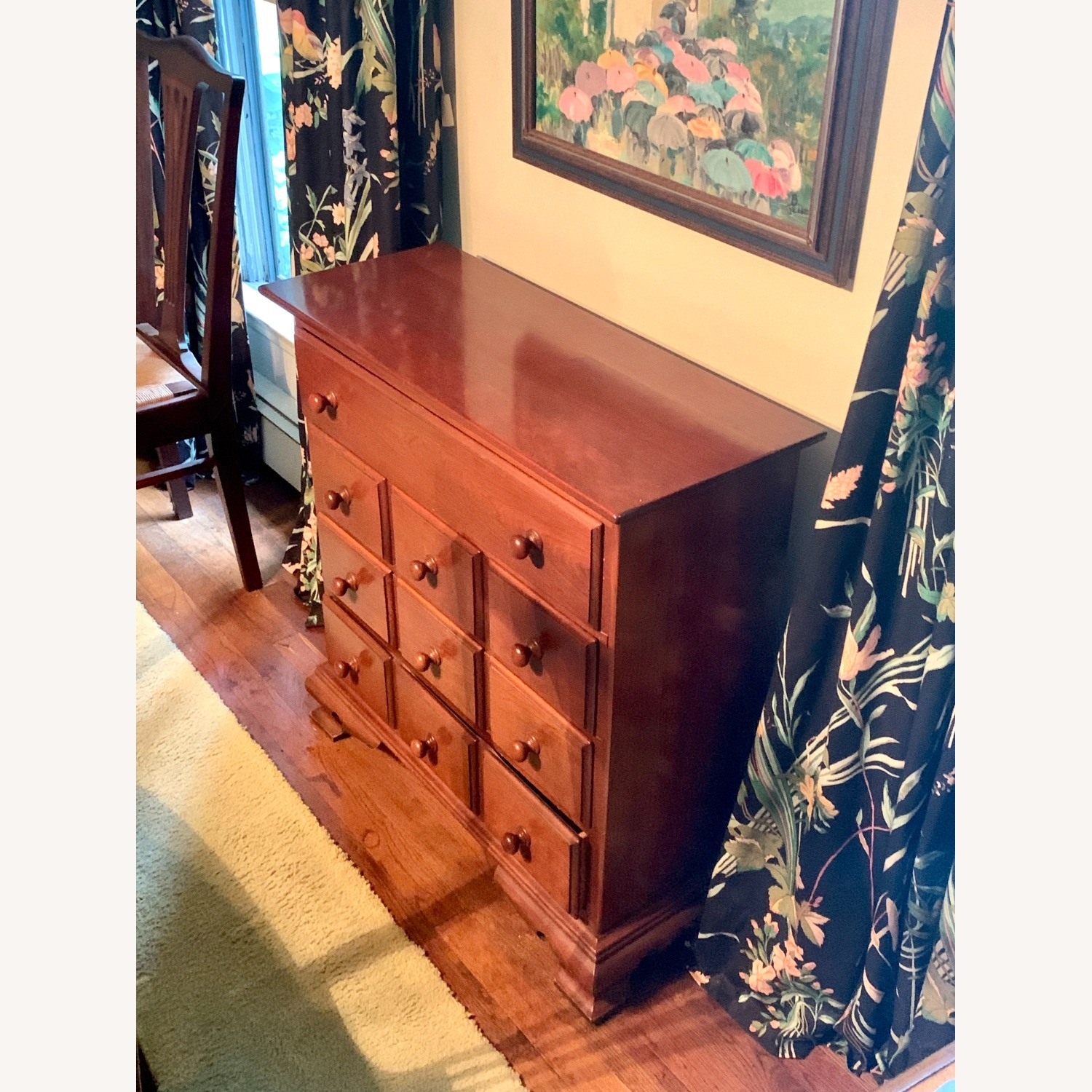 Antique Four-Drawer Wooden Chest - image-2
