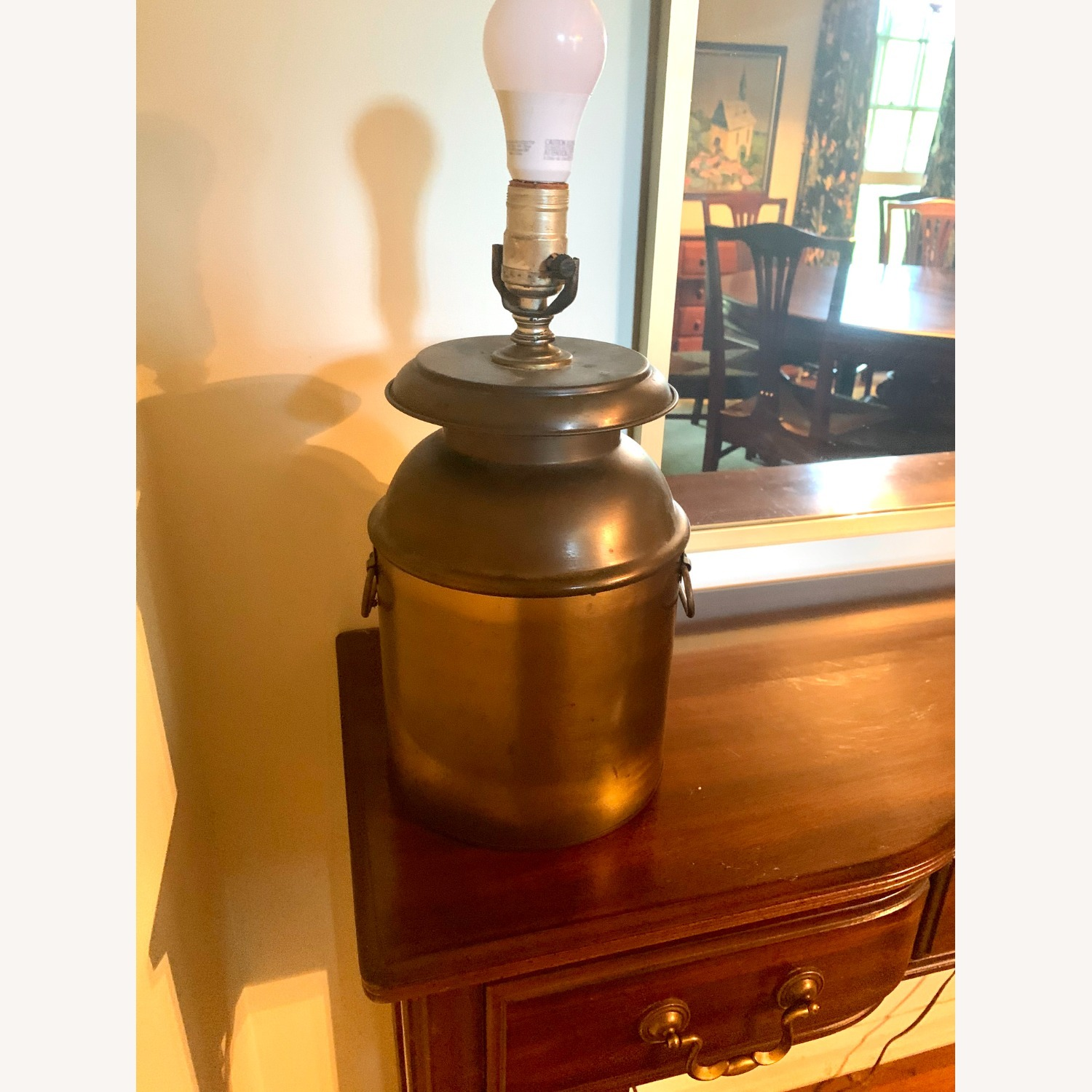 Brass Finish Table Lamp - image-1