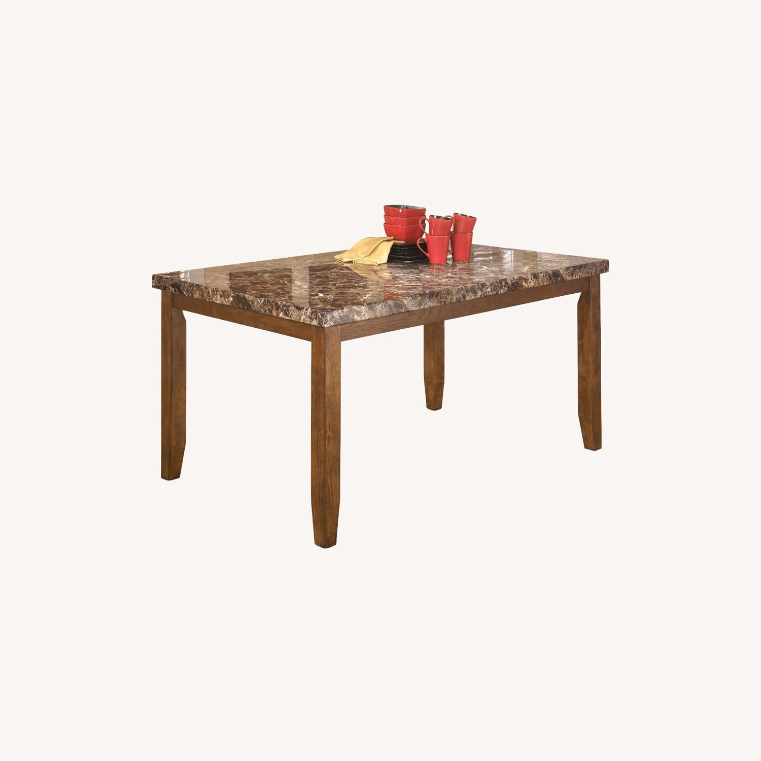 Bob's Discount Rectangular Dining Table with 6 Chair - image-0