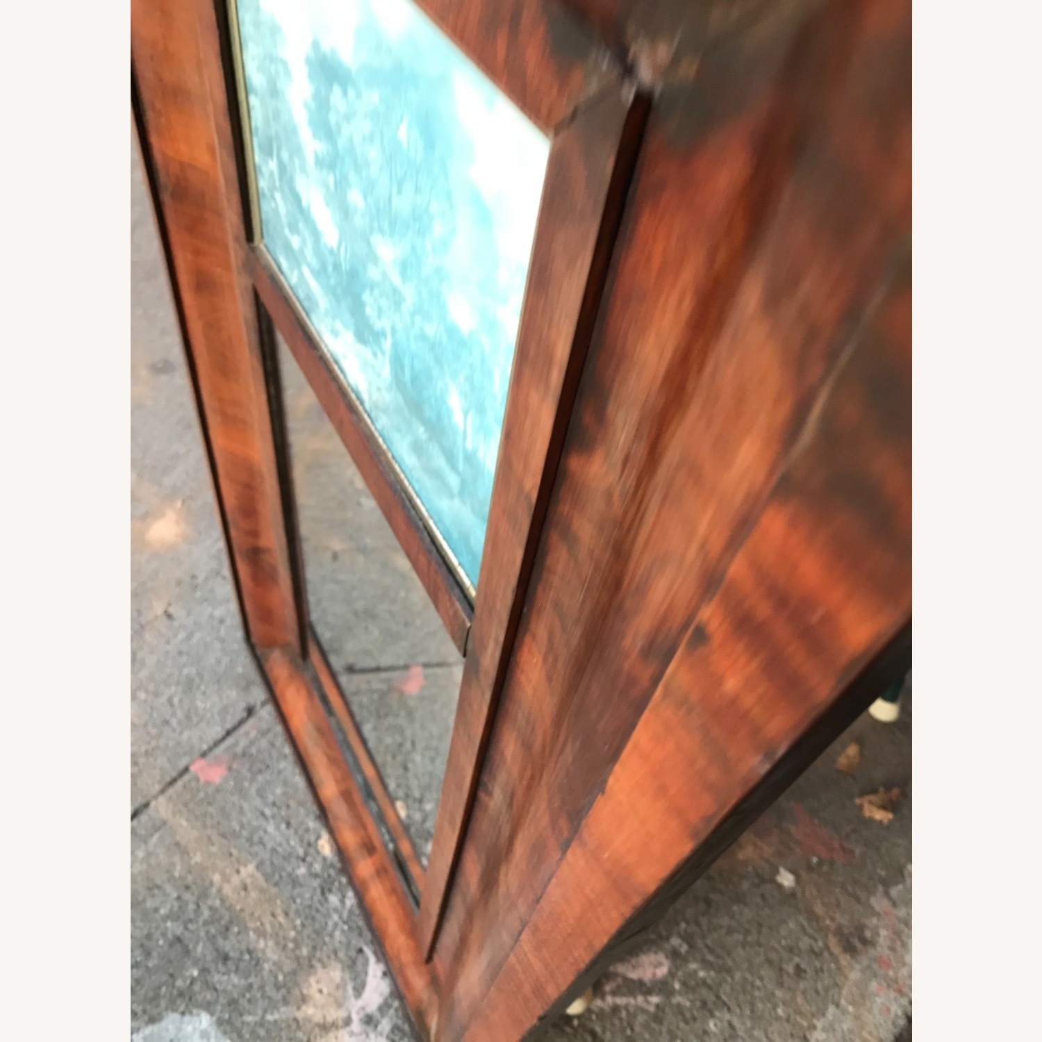 Antique 1900s Mahogany Framed Mirror w/ Picture - image-10