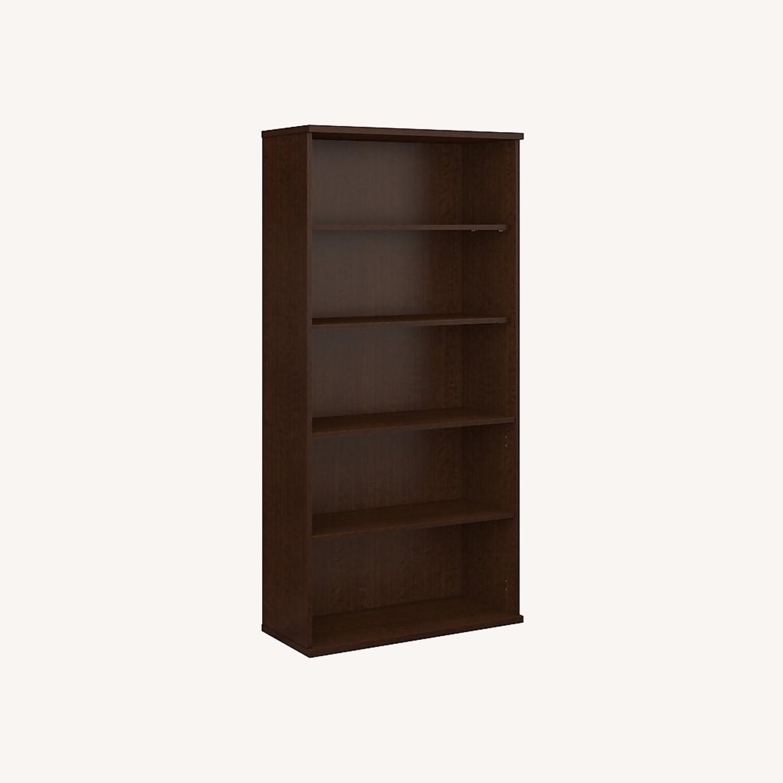 Staples Bush Classic 5-Shelf Wood Bookcase - image-0