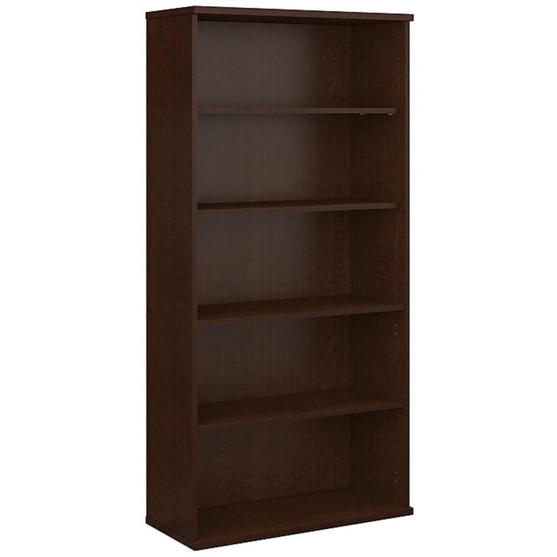 Staples Bush Classic 5-Shelf Wood Bookcase - image-1