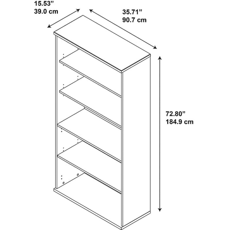 Staples Bush Classic 5-Shelf Wood Bookcase - image-2