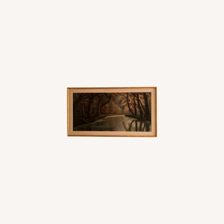 Landscape Oil Signed G Robert - image-0