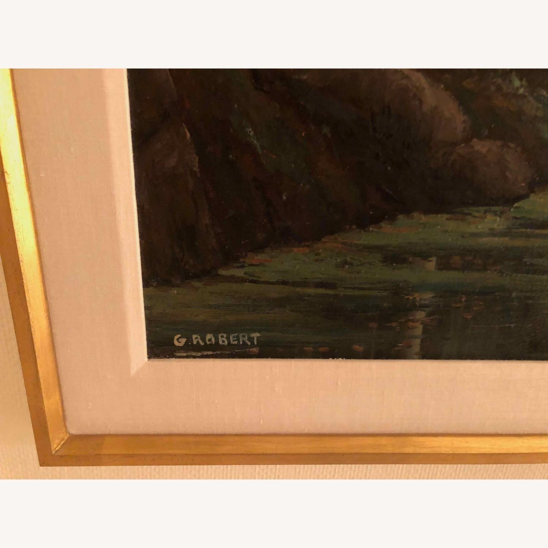 Landscape Oil Signed G Robert - image-3