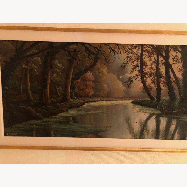 Landscape Oil Signed G Robert - image-2