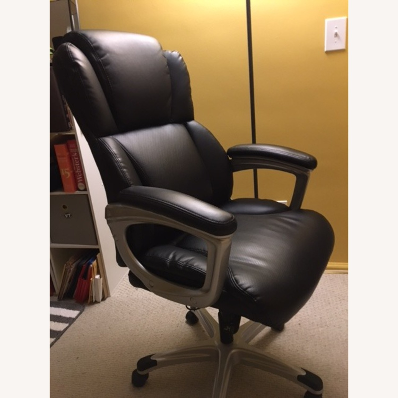 OFM Inc. Ergonomic Executive Bonded Leather Office Chair - image-3