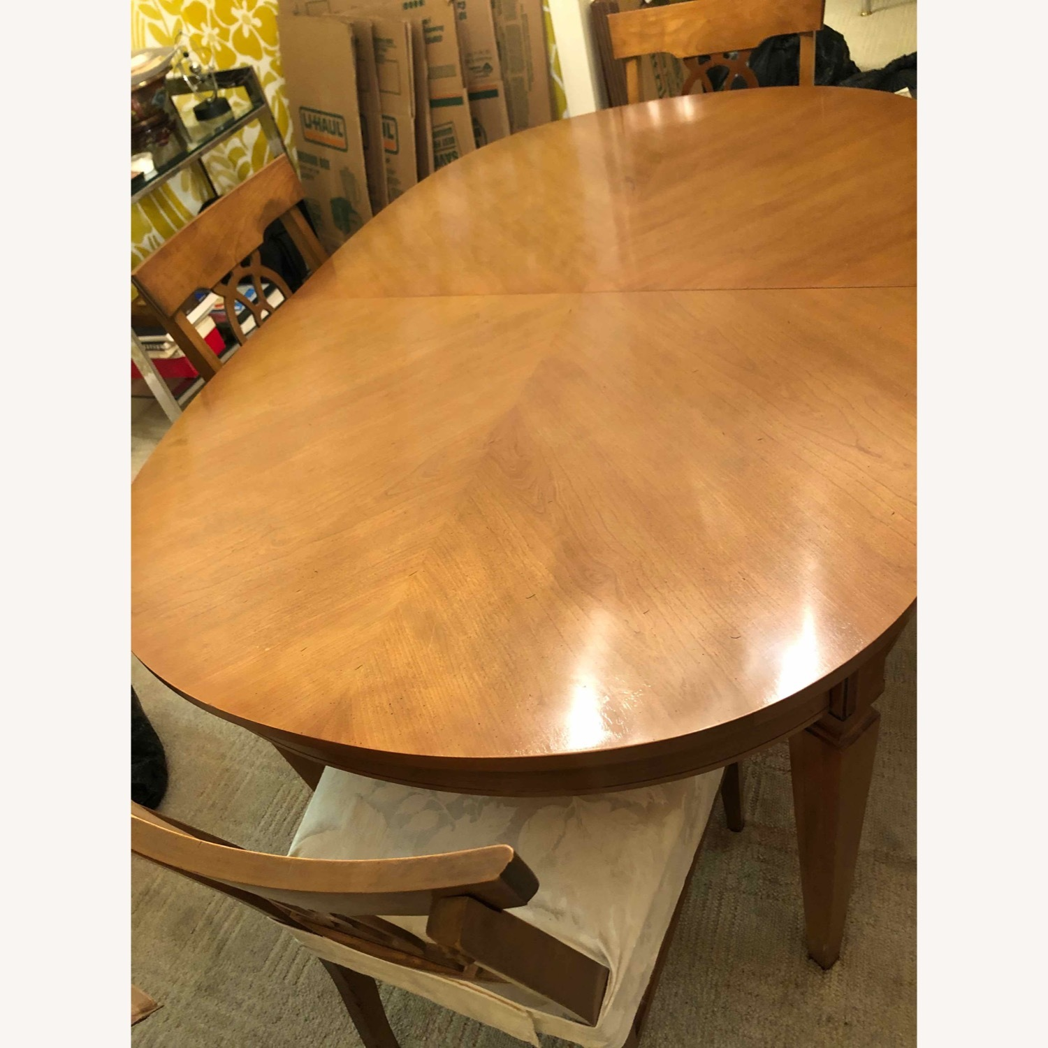 Italian Provincial Oval Dining Table - image-1