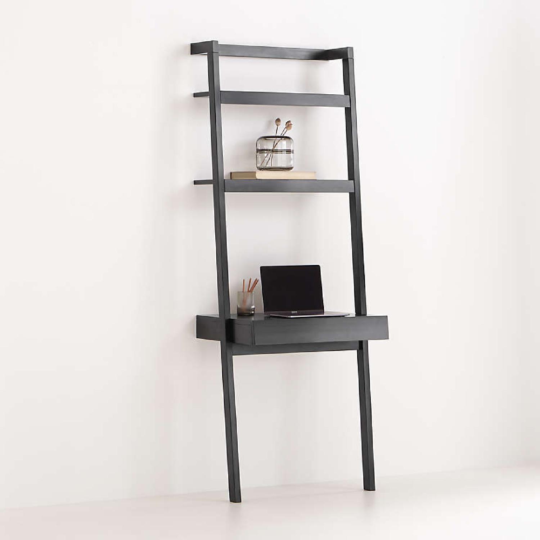 Crate & Barrel Sawyer Black Desk and Shelves - image-4
