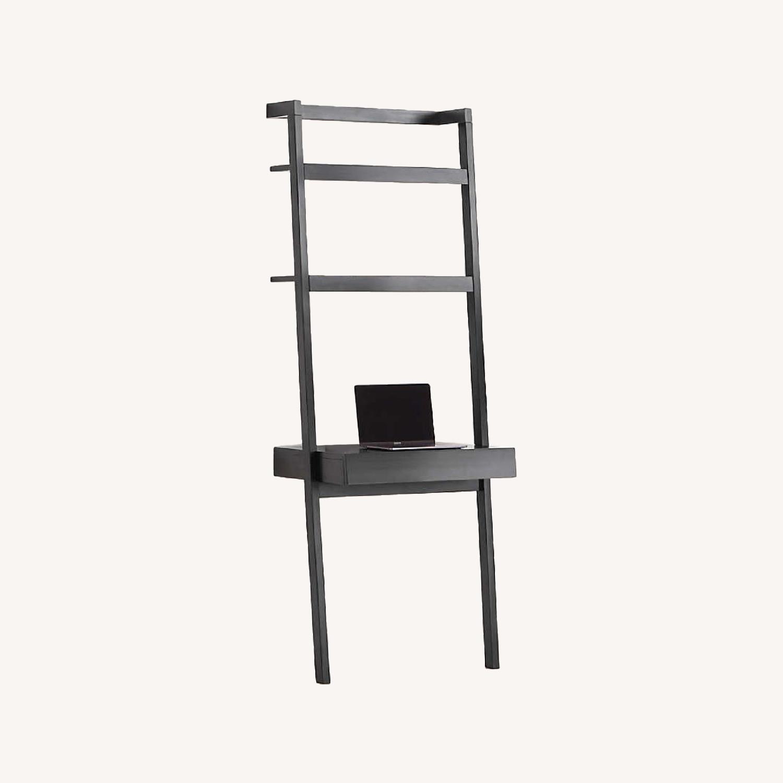 Crate & Barrel Sawyer Black Desk and Shelves - image-0